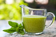 Basil Vinaigrette Recipe  Add to shopping list  INGREDIENTS  1 teaspoon Dijon mustard  1 shallot, chopped  1/2 teaspoon salt  1 teaspoon sugar  1/2 cup roughly chopped basil leaves  1/4 cup white wine vinegar  3/4 cup olive oil