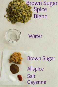 Brown Sugar Spice Roasted Pumpkin Seeds by @browneyedbaker :: www.browneyedbaker.com