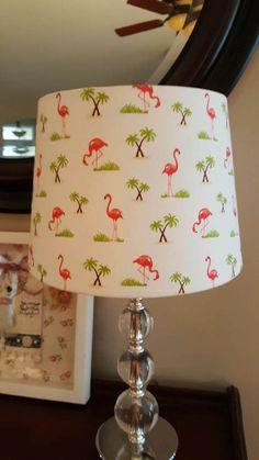 Flamingo Lamp Shade coastal beach by Zacharydickorydock on Etsy