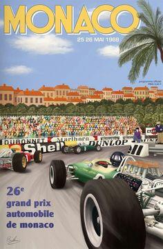 1968 26°GP #F1 #Monaco - 26 May 1968 -Winner Graham Hill #Lotus-Ford Cosworth - Fu la terza prova del mondiale 1968 e vide la vittoria di Graham Hill su Lotus-Ford, seguito da Richard Attwood e da Lucien Bianchi, per quest'ultimo unico podio in carriera.