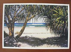 Mark Waller Australian, Lennox Head NSW  pandanus Tapestry, World, Artist, Painting, Hanging Tapestry, Tapestries, Painting Art, Paintings, Painted Canvas