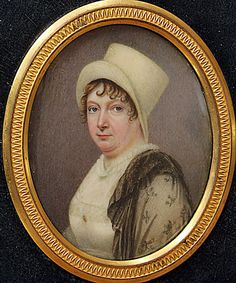 An enchanting portrait of a country Lady by ALEXANDER GALLAWAY - Portrait Miniatures of Claudia Hill at Ellison Fine Art