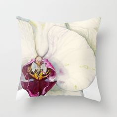 Cream & Fuchsia Throw Pillow :)   Cream+&+Fuchsia+Cymbidium+Orchids+Throw+Pillow+by+Cindy+Lou+Bailey++-+$20.00  A close-up of cream & fuchsia cymbidium orchid flowers. Painted in watercolor on Hot Press Arches paper by Cindy Lou Bailey.