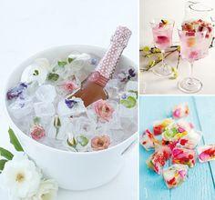 des glaçon fleurs, aux fraises, à la menthe- le petit truc qui font sont effet