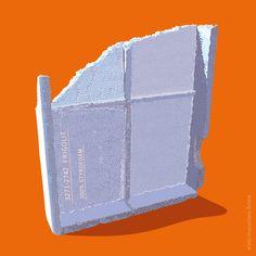 Återvinning av frigolit / Recyckling styrofoam SSSB – illustration by Mås illustra