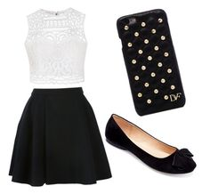 """Black and White"" by kenzalie13 on Polyvore featuring Ally Fashion, Avelon, Machi and Diane Von Furstenberg"