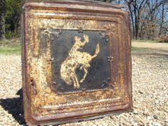 Antique Ceiling Tin Wall Tile Western Cowboy Art Kitchen Backsplash 00