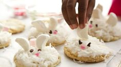 This Easter treat your guests with these bunny cookies that are made using Pillsbury® sugar cookies - a creative holiday dessert.