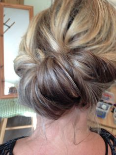 Twist and roll updo