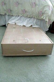 Diy Cedar Lined Under Bed Storage Box On Wheels