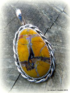 Great Basin Breciatted Jasper Cab made and set into a sterling silver pendant by James K. Bowden (his first silversmithed piece!!!).  #jewelry #jasper #silver #cabechon