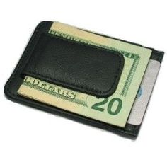 Fine Leather Hand Crafted Mans Man's Mens Men's Mini Wallet Credit Card Holder with Magnetic Money Clip Price: $5.92
