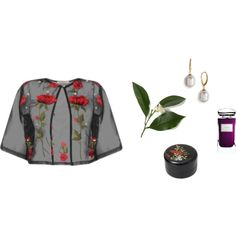 evenings in the tropical garden by silhouetteofsilk on Polyvore featuring polyvore, fashion, style, Majorica, Terry de Gunzburg, Nandina and clothing