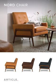 The Nord chair combines the best of Danish and mid-century design.