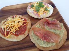 Pitapizza med 3 ulike sauser