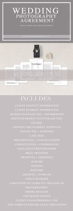 930 best legal forms images on pinterest free printable template complete wedding agreement legal forms for photographers fandeluxe Choice Image