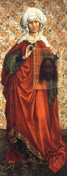 St. Veronica, 1410 by Robert Campin (c. 1375 – 26 April 1444, usually identified as the artist known as the Master of Flémalle, Flemish)