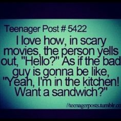 Nice story babe, now go make me a sandwhich
