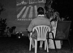historic moment screen rural wedding