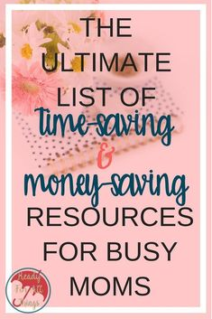 These time-saving resources for busy moms are the best! If your life is too crazy to handle, then you need to take advantage of the money-saving resources these companies have to offer. Make More Money, Ways To Save Money, Money Tips, Money Saving Tips, Savings Planner, Time Saving, Time Management Tips, Useful Life Hacks, Budgeting Tips