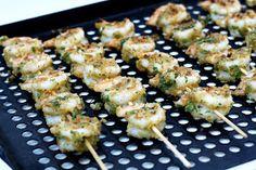 dinner or dessert: garlic shrimp