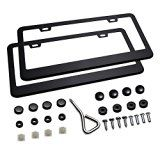#9: Ohuhu Matte Aluminum License Plate Frame with Screw Caps (2 Pieces) http://ift.tt/2cmJ2tB https://youtu.be/3A2NV6jAuzc