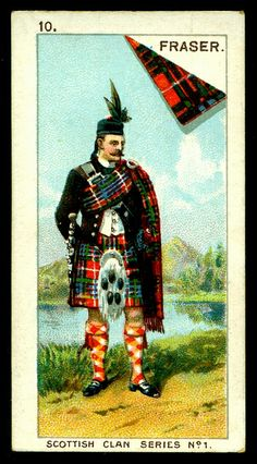 "Mitchell's Cigarettes ""Scottish Clan Series"" (set of 25 issued in 1903) #10 Fraser"