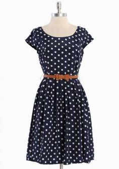 Clermont Belted Polka Dot Dress | Modern Vintage Dresses    GORGEOUS!