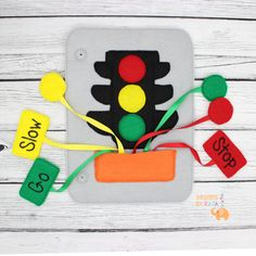 quiet busy book stop sign page childrens learning toddler learning busy book page idea toddler quiet book quiet book pages shapes - Color Books For Toddlers