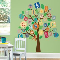 Trees need not always have leaves alone. . . these alphabets makes the tree very interesting!