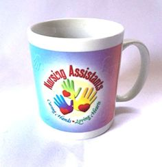 CNA Mug Medical Nursing Assistant Coffee Cup Caring Hands Loving Hearts