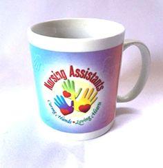 CNA Mug Medical Nursing Assistant Coffee Cup Caring Hands Loving Hearts