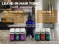 For healthy hair, give this essential oil infused hair tonic a try. Spritz this tonic on after you've washed your hair and before styling. No need to rinse. Hope you give it a try!