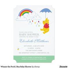 Winnie the Pooh | Boy Baby Shower Card.  Artwork designed by Disney. Price $2.26 per card