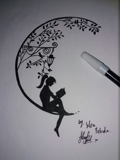 Quotes For Art Sketches Zitate Für Kunstskizzen - Image Upload Services Doodle Art Drawing, Girl Drawing Sketches, Art Drawings Sketches Simple, Pencil Art Drawings, Pencil Sketch Drawing, Sketch Art, Easy Drawings, Tattoo Drawings, Drawing Ideas