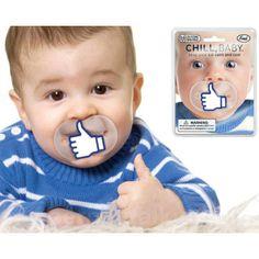 Tétine Sucette Like Facebook : la sucette insolite pour bébé geek !