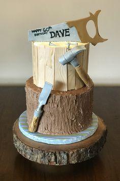 The Carpenter's Birthday cake – cake by The Butterfly Baker - Birthday Cake Blue Ideen Chocolate Birthday Cake Decoration, Birthday Cake Decorating, Cake Decorating Tips, 70th Birthday Cake For Men, Birthday Drip Cake, Happy 60th Birthday, Dad Cake, Chocolate Drip Cake, Tool Cake