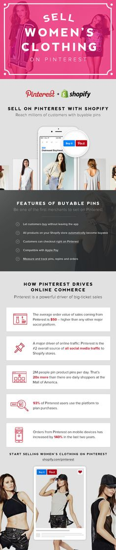 Social selling made easy. Use Buyable Pins to get more customers and sell on Pinterest with Shopify.