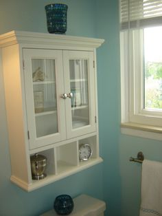 Cabinet Above Toilet In Spa Inspired Bathroom