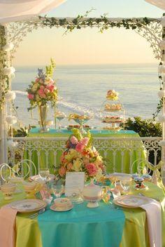 Southern Charm Beach Wedding Table Décor