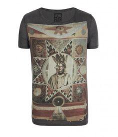 All Saints - Muerte Cut Collar T-Shirt