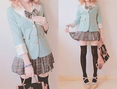 Cute school uniform. Each one of these pictures is getting progressively skankier, lol! :D