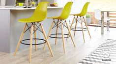 Eames Style Bar Stool but in grey