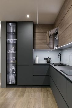 Kitchen interior design – Home Decor Interior Designs Kitchen Room Design, Kitchen Cabinet Design, Modern Kitchen Design, Home Decor Kitchen, Rustic Kitchen, Modern Interior Design, Interior Design Kitchen, Modern Kitchen Cabinets, Interior Plants