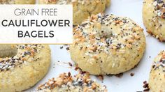 How To Make Cauliflower Bagels | A Grain Free + Low Carb Recipe