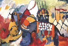 The elephant, 1908, Wassily Kandinsky
