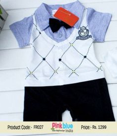 1a12a9824 Handsome Kids Romper Dress - Half Sleeves Wedding Suit, Baby Boy Formal  Outfits, Toddlers