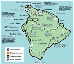 Big Island, Hawaii Tourist Map