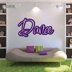 Dance Wall Lettering Decal Sticker Home Sticker Wall Dancing Cute Dance Room Sports Bedroom Removable Wall Quote Decal Vinyl Decal, Dance Bedroom, Dance Rooms, Girls Bedroom, Vinyl Wall Quotes, Vinyl Wall Decals, Wall Stickers, Dance Studio Design, Dance Academy, Letter Wall