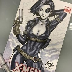 Marvel's X-Men: X Force- Domino by Artgerm